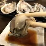 磯っぺ里 - ポン酢でいただきます、やっぱ生牡蠣最高!(2018.12.20)