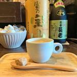 98765052 - 食後のコーヒー、ナメの焼酎