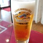 ロータス - ドリンク写真:ランチビール。