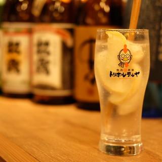20種類以上の宮崎の焼酎の中から選べる焼酎ハイボール
