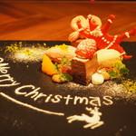 """98769753 - クリスマスリース""""チョコレート""""""""苺""""""""紅茶"""""""