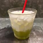 野菜を食べるカレーcamp - グリーンアップルラッシー