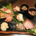 産直屋 魚渋 - 刺身の盛合せ
