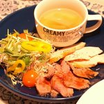 cafe 8 - 料理写真:サラダ小鉢全部セット