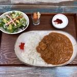 ハシゴカフェ キョウト - 料理写真:手作りインドカリー(辛さ 普通)1
