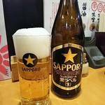 麺飯屋五榔 - 瓶ビール(税込み500円