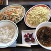 栗木台 大勝軒 - 料理写真:野菜と鶏肉の黒胡椒炒め定食
