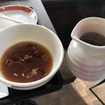 栗木台 大勝軒 - スープ割り