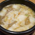 鶏と魚だしのつけめん哲 - 味玉強火つけ麺
