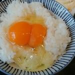 熊福 - 卵かけご飯(双子卵)
