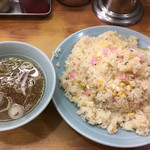 98799549 - 炒飯 スープ付き 750円 税込