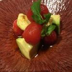 焼肉K - トマトキムチアボカド和え