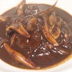 curry DELHI グルメ - 牛ホホとキノコの煮込みカレー@¥800