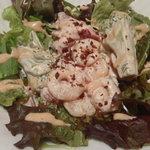 curry DELHI グルメ - 水曜日海老とブロッコリーのサラダ