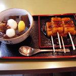 梅園 - みたらし団子とみつ豆SET(750円)