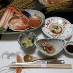 旬魚たつみ - 松葉がにフルコース 15000円(税込) (2018.12)