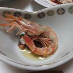 旬魚たつみ - もさえびと蛸の煮物