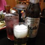 旬魚たつみ - 瓶ビールとチューハイ