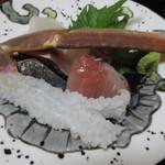 旬魚たつみ - 松葉がに造り・ヨコワ・鰤・平目の造り