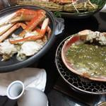 旬魚たつみ - 焼き松葉がにと甲羅焼きの味噌