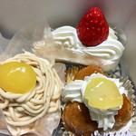 サントノーレ - ケーキはこの3点を購入!!