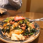 ぱいかじ - チキナーチャンプルです。(からし菜)