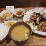 98820868 - なす豚味噌炒め定食