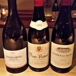 フルールパルフ - 左から、Tollot Beaut、Hudelot Noellat、Dujac 。