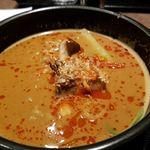 炎麻堂 - 坦々麺麺半分。味わいは普通