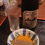 みづま - 中瓶ビール 600円 小鉢(定食セット)