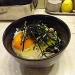 串処 絆 - 卵かけごはん