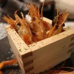魚寿司 大塚のれん街 - 海苔エビ唐揚げ