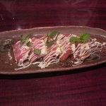 昭和食堂 - トマトとクリームチーズのカルパッチョ