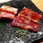 広島の黒毛和牛焼肉専門店 肉亭いちゆく - 王様ハラミ、中落ちカルビ