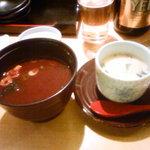 すし・海鮮玉寿司 - セットの赤だし&茶碗蒸し