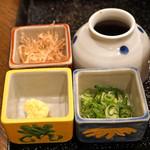 玄蕎麦 野中 - こだわり豆腐の薬味