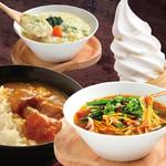 カレー、デザートetc豊富なビュッフェも食べ放題!〆の麺やご飯などなど工夫次第で美味しさ倍増!