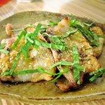 和雅家 - 豚肉のソテー、味噌だれが美味しいです。