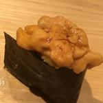 鮨 さかい - 塩水馬糞ウニの軍艦