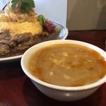 中華料理 八戒 - 八戒丼の豚骨餡アップ