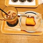 COFFEE VALLEY - ラテ アイス(530円)、フレンチトースト(160円)