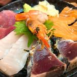 魚人食堂 - ◆海鮮丼とアジフライのセット 1,280円