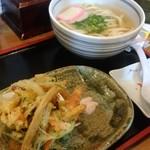 讃岐麺処 か川 - かき揚げセット