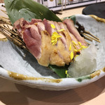 くちばしstation - 大和肉鶏ももたたき