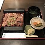 昇家 正々堂 - 塩タン重 980円   肉大盛り450円