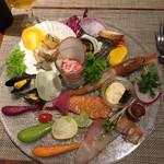 キャトルラパン 北梅田 - 豪華な前菜