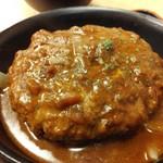 松屋 - ビーフハンバーグステーキアップ