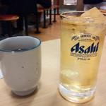 松屋 - ハイボール150円をお茶と対比