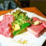 炭火焼肉 たけのうち - ステーキ肉食べ比べ❢