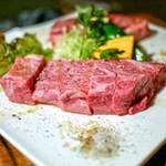 炭火焼肉 たけのうち - ☆厚切りリブロースステーキ 160g 2484円